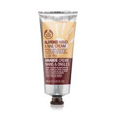 The Body Shop: Almond Hand  Nail Cream. Perfecta para pieles secas