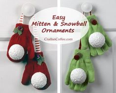 I'm making these for gifts this year, they're so stinkin' cute and easy. (And those mittens are from the dollar store -- yes!) CraftsnCoffee.com.