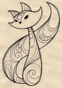 """""""Sly Fox"""" embroidery pattern"""