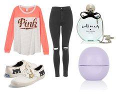 """pink"" by shellandciara on Polyvore featuring Topshop, Keds and Kate Spade"