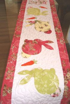 Easter/Spring Quilted Table Runner Appliqued by ...