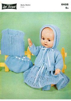 PDF Digital Download Vintage Knitting Pattern Lee Target 6408 Dolls Clothes 16 '' Dolls  £1