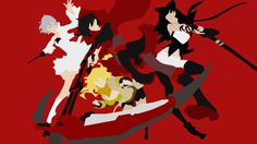 RWBY Minimalism Wallpaper by Kirinismywaifu