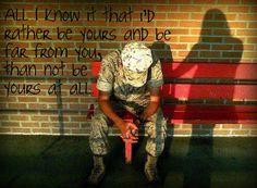 Military Girlfriend Quotes, Marines Girlfriend, Army Boyfriend, Airforce Wife, Usmc, Marine Love, Army Brat, Army Quotes, Military Love