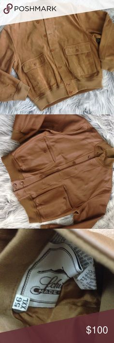 Men's Snuff Suede Coat 😍 Beautiful reversible snuff suede leather coat. XXL.  Small hole on collar. ❣️make an offer ❣️ Schiatti & Co Jackets & Coats Bomber & Varsity