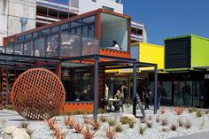 A colourful cluster of container buildings brings the buzz back to Christchurch after the quakes