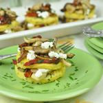 Wild Mushrooms with Polenta, Sun Dried Tomatoes and Goat Cheese