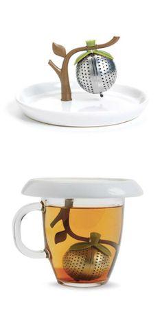 Infusor de té en hebras con platito. Ideal para mantener el aroma!