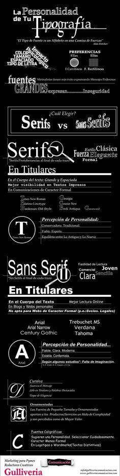 La personalidad de tu tipografía #infografia #infographic #design