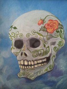 Dia de los Muertos Skull. $100.00, via Etsy.