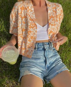 Trendy Summer Outfits, Cute Casual Outfits, Pretty Outfits, Vintage Summer Outfits, Looks Teen, Look Fashion, Fashion Outfits, Jugend Mode Outfits, Looks Pinterest