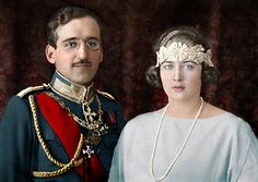 King Alexander I of Yugoslavia and Queen Marie of Yugoslavia nee Princess Marie of Romania Romanian Royal Family, Queen Victoria Prince Albert, Armistice Day, House Of Romanov, Francis I, Man Of War, Casa Real, Royal Jewels, Crown Jewels