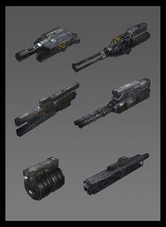 Al_Crutchley_Concept_Art_al_mech_weapons #scifi #concept #conceptart #ilustration