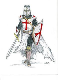 Típica representación de un guerrero medieval (existe una diferencia sustancial entre guerrero y caballero)