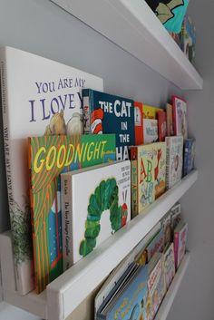 Cute bookshelves for a nursery/kid's room!