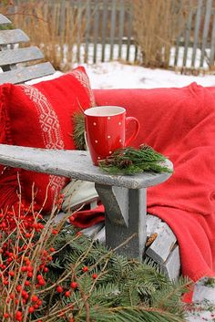 A cozy winter day with a mug your favorite warm beverage