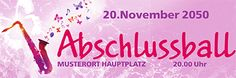 """Abschlussball Werbebanner """"Saxophon"""" in der Größe 300x100 cm #werbebanner #banner #abschlussball #werbebannerdesign #werbebannerlayout"""
