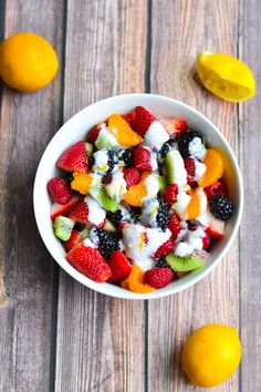 Fruit Salad with Limoncello Dressing from A Dash of Soul | foodiecrush.com