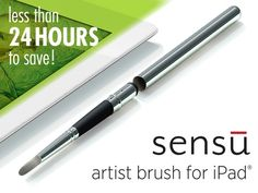 Sensu Brush delivers an authentic painting experience on your iPad. It's truly portable and includes a useful rubber stylus tip.