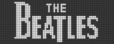 Alpha Pattern Weaving The Beatles Chart Cross Stitch Melty Bead Patterns, Perler Patterns, Loom Patterns, Beading Patterns, Beaded Cross Stitch, Cross Stitch Embroidery, Cross Stitch Patterns, Rock Logos, 8bit Art