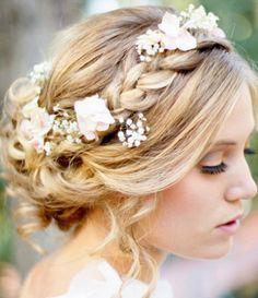 peinado de novia romantico