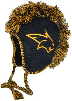 Mohawk Beanie, MSU Bobcats Navy and Gold, black fleece lining Montana State University, Winter Hats, Beanie, College, Navy, Future, Awesome, Holiday, Sports