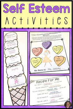 These self esteem activities for kids will help elementary students learn to celebrate their strengths and use positive self talk. These worksheets and activities are perfect for your school counseling lessons and small groups!