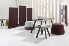 Monica Armani created a system of ottomans, tables, and space dividers completed by a lamp and several components and accessories. The items are conceived to be used individually or together, in various combinations, with great balance and harmony, to create comfortable and cozy spaces for privacy. Places that can be informal and private and be lived and interpreted in different ways.