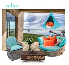 """""""Relax"""" by chain-elle-arts on Polyvore featuring interior, interiors, interior design, home, home decor, interior decorating, Skyline, AK47, Cacoon and LSA International"""