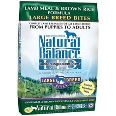 Natural Balance L.I.D. Limited Ingredient Diets Lamb Meal and Brown Rice Formula Dry Dog Food >> Special dog product just for you. See it now! : Dog food types