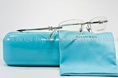 Tiffany rimless rhinestone glasses. Have me... The case is pretty too :)