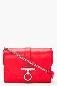 Givenchy Red Sugar Obsedia Bag for Women | SSENSE