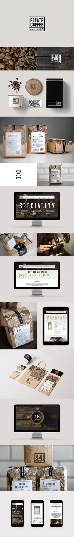 Branding and packaging design was crafted for Estate Coffee Roasters, young and…