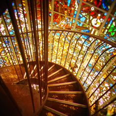 Hakone Stained glass staircase