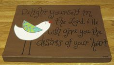 Customizable Bird Canvas with Quotation, Phrase or Bible Verse Made to Order-KatieCBugDesigns on Etsy