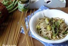 Linguine con pesto,patate e fagiolini cinesi