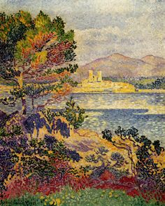 Antibes, Morning, by Henri-Edmond Cross (French, 1856-1910)