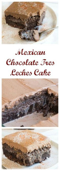 Mexican Chocolate Très Leches Cake