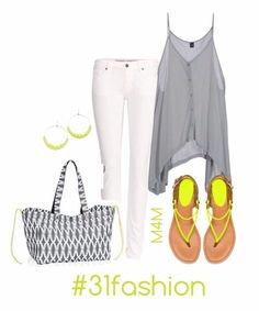 10a38de47a1 Love how our new Soft Utility Tote in Charcoal Links pairs with this Summer  outfit.