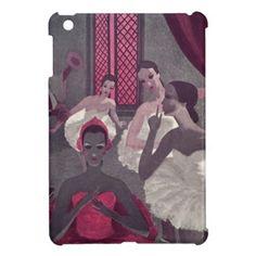 Ballerina Dancers Vintage Purple Pink Performers Cover For The iPad Mini #ballerinas #vintageballet #iconographique