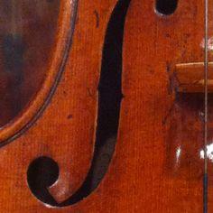 Bass side f hole, Harrison Stradivarius, 1693