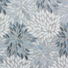 Decorative Materials » Estrella Grey Blend Glass Mosaic Girls bathroom backsplash