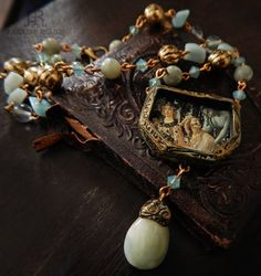 Primavera  - Shrine to Renaissance Art - Pictorial Amulet Necklace