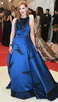 Met Gala 2016: Every Gorgeous Look on the Manus x Machina Red Carpet | People - Jessica Chastain in Prada