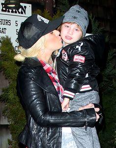 See How Christina Aguilera's Son Max Has Grown!: January 2012