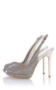 Metallic peep toe shoe | Luxury Women's zz_criteo | Karen Millen