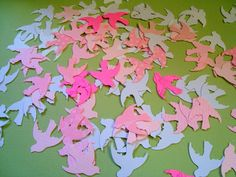 Bridal Shower or Wedding Pink Mix White Dove Confetti by Wcards, $2.00