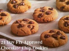 21 Day Fix Approved Chocolate Chip Cookie! 21 Day Fix cookie recipes