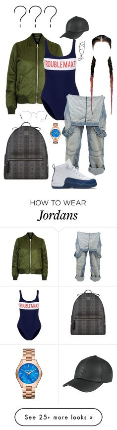 """"" by sherie-lover on Polyvore featuring Topshop, Zoe Karssen, Crafted, NIKE, MCM, Michael Kors and Ray-Ban"