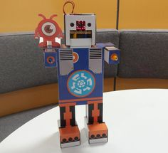 Today we fitted 'Dimm' with the BBC Micro:bit and it looks great! We will be looking at new coding scripts for 'Dimm' over the next few days so hopefully we can get him doing some cool actions! #TA_talk #education #robots #consumablerobotics #microbit #EdTech